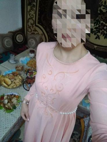 Платье, размер 44-46,  цвет персика , в Кок-Ой