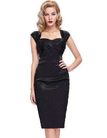черное платье футляр в Кыргызстан: Платье футляр, ткань атлас. Отлично подчеркнет вашу фигуру. Фирма Whit