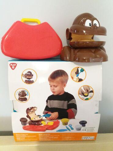Παιδικά αντικείμενα - Ελλαδα: Οδοντιατρος- μαιμου, παιχνιδι με πλαστελινες