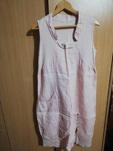 Hm-tanka-jaknica-puder-roza-s - Srbija: Nova lanena haljina. Kupljena prošle godine. Puder-roza boja M veličin