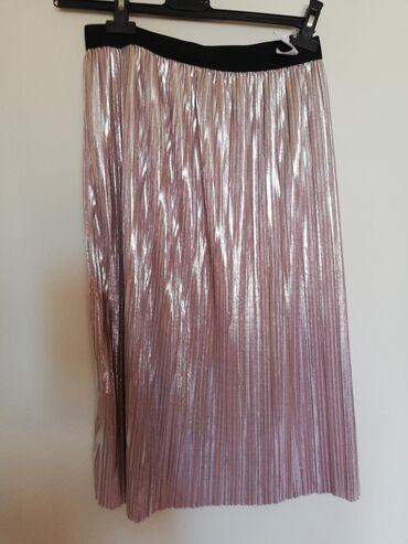 Plisirana suknja (roze metalizirana)