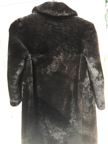 Натуральная Цигейковая шуба.размер 48