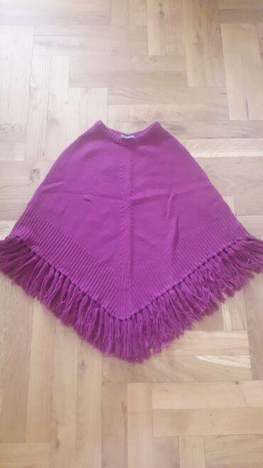 Kaputi - Srbija: Ponco za devojcice, ruzicaste boje, boja vuce na pink izmedju