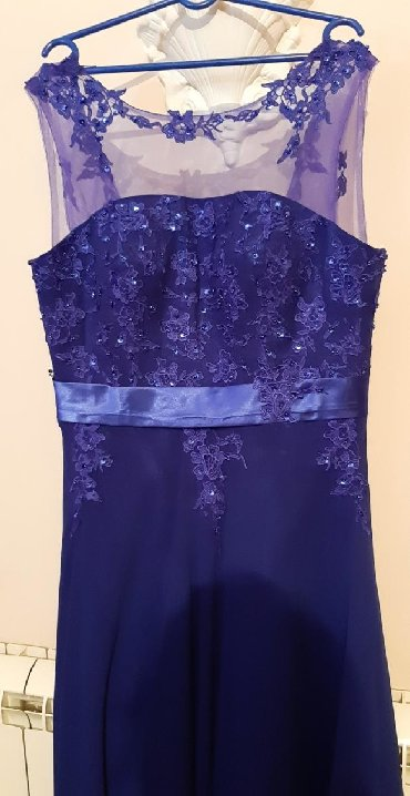 Majica-svecana - Srbija: Plava svecana haljine za starije dame velicina 46