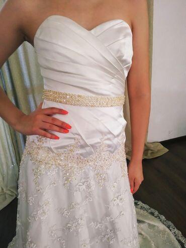 Роскошное свадебное платье, ручная вышивка. Платье русалка.44 - 46