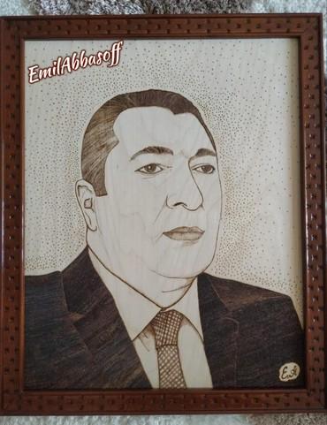 Portret taxta uzerinde yandirma ishi, zakaza duzeldilir,qiymət в Bakı