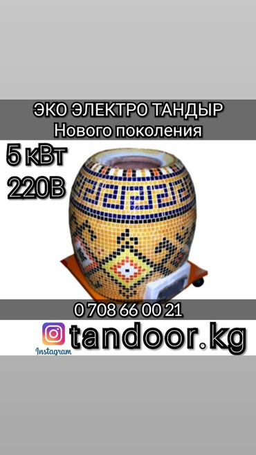 ЭКО ЭЛЕКТРО ТАНДЫР НОВОГО ПОКОЛЕНИЯ в Бишкек
