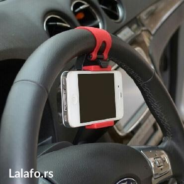 Univerzalni drzac telefona na volanu vozila. Obziran i praktičan,  - Kragujevac - slika 5