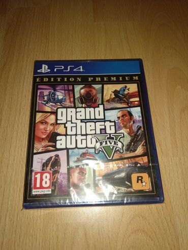 PS4 (Sony Playstation 4) | Srbija: GTA V Premium Edition - NOVO. Igrica je nova u celofanu