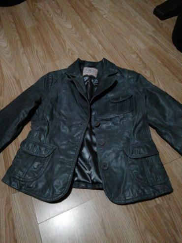 Kožna jakna sive boje br 40 - Nis