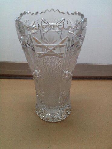 Вазы - Кыргызстан: Хрустальная ваза,высота 25 см,диаметр 14 см,СССР
