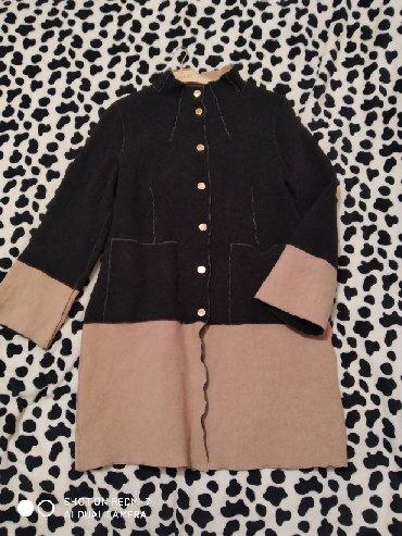 Фирменное Деми пальто, двухсторонняя, 44-46, бу состояние отличное