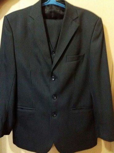 Мужской костюм (тройка). темного-серый в Бишкек