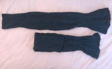 Πλεκτές καλτσες-Γκέτες μεχρι το γονατο, σκουρο γκρι, xs/s