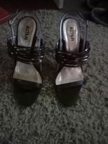 Prelepe sandale sive boje. nosene 3 puta.br.38 - Pancevo