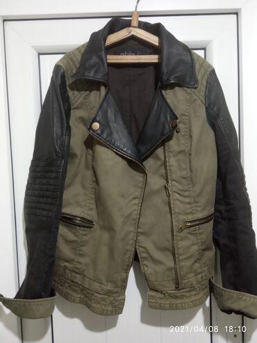 Продаю Джинсовая куртка с кожаными вставками