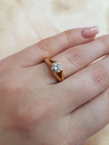 Кольцо с бриллиантом (1кр57 =0. 75 3/3) размер кольца 17. 0 в Бишкек