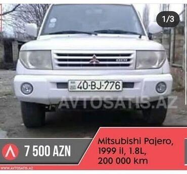 pajero io - Azərbaycan: Mitsubishi Pajero Mini 1.8 l. 1999   200000 km