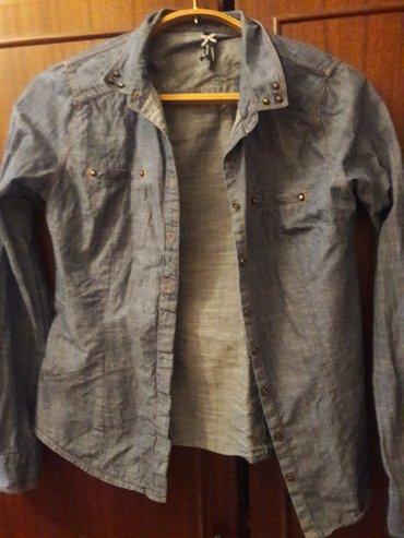 джинсовая жилетка женская в Кыргызстан: Джинсовая рубашка