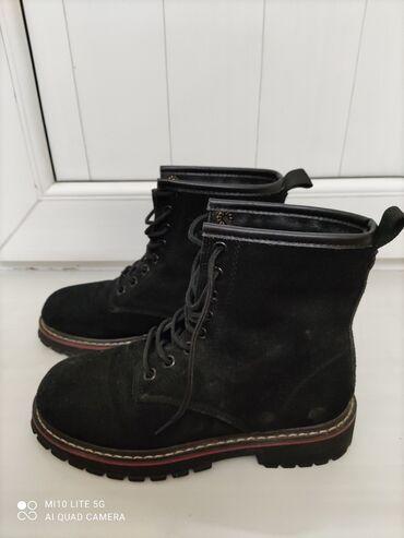 Ботинки зима,замша натуралка, размер 37, в хорошем состоянии
