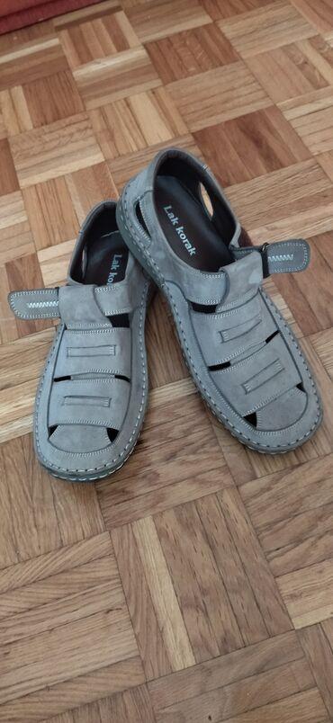 Muške kožne sandale na prodaju broj 43 bukvalno nove jednom obuvene