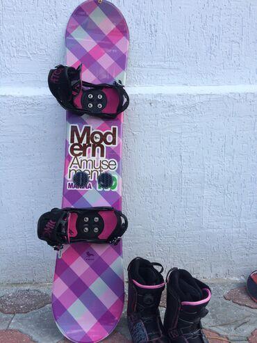 Сноуборды в Кыргызстан: Продаю оригинальный корейский комплектные сноуборд и ботинки с чехлами