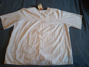 женская-блуза в Кыргызстан: Женская блуза, х/б, цвет белый, размер ХХL, новая, цена 100 сом