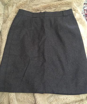 Юбка плотная зимняя б/у в хорошем состоянии 42-44 размер шерсть 100 % в Баетов
