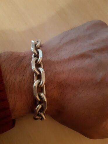 Продам якорный брослет муж из серебро вес больше 60 грам длина 23 см