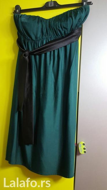 Haljina access, velicina s, kao nova, tamno zelene boje sa satenskim - Nis