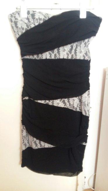500 rsd crno bela cipkasta elegantna haljina velicine m - Nis