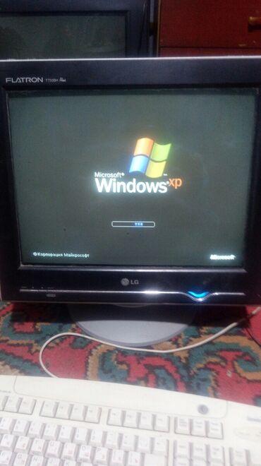 телевизор lg с плоским экраном в Кыргызстан: Монитор старенький, но всё равно отлично работает.Отдам за 5 литров