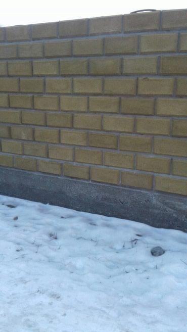 Кладка кирпич, пескоблок,отделка фундамента в Кок-Ой