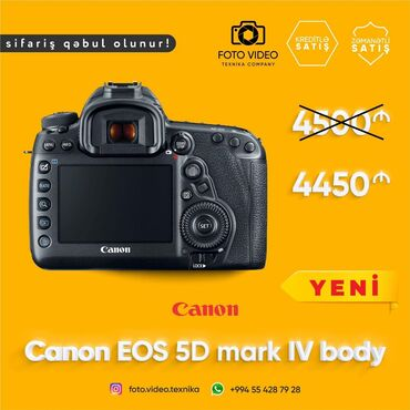 canon eos 5d mark ii в Азербайджан: Canon eos 5D mark IV body təzə