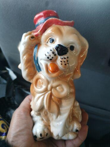 Собачка статуетка,с советских времён,прошу 800с