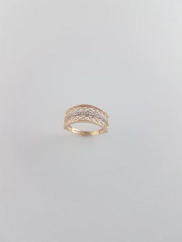 Кольца из красного золота 585проба Вставка циркон Размер кольца 19.5 в Бишкек