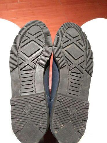 Ženske čizme- krzno -čista koža. Broj 39-40  Ženske čizme plave boje -