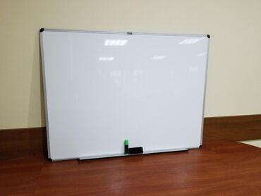 Доски стеклянная магнитно маркерная лаковые - Кыргызстан: Продаю маркерную доску размер 120 на 90 . Как новая не использовали