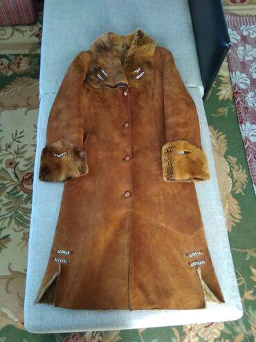 Женская одежда в Кант: Продаю натуральную дубленку б/у в хорошем состоянии, длинное в пол, 48
