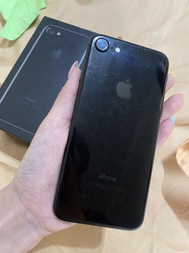 IPhone 7 | 128 ГБ | Черный | Б/У | Трещины, царапины, Отпечаток пальца, С документами