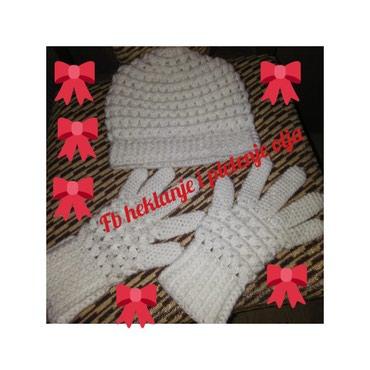 Komplet kapa i rukavice,izrada po porudzbini - Sokobanja