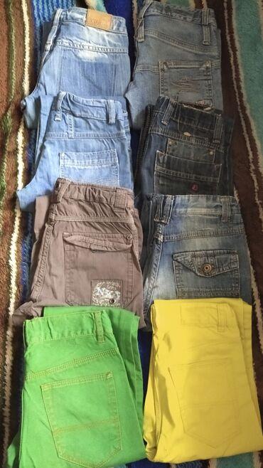 Farmerki pantalone - Srbija: Paket sadrži pantalone i farmerke broj 128 ili 8- ica. Moze I na komad