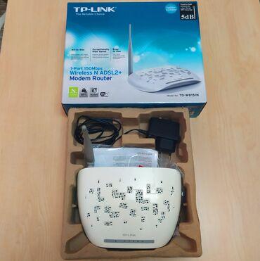 Modem TP-LINK, ADSL modemdir, Çox yaxşı işləyir, Az müddət işləyib