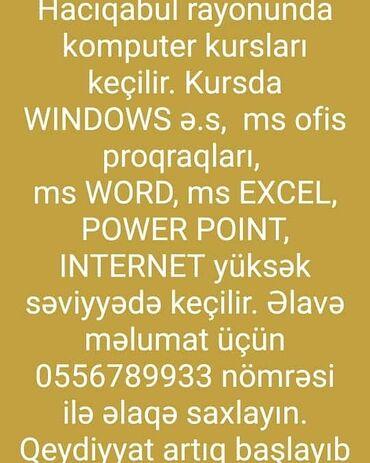 kurs - Azərbaycan: Kompüter kursları | Microsoft Windows, Microsoft Office | Əyani, Fərdi, Qrup