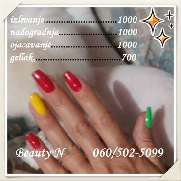 Izlivanje, nadogradnja, gellak, korekcije noktiju POVOLJNO - Crvenka