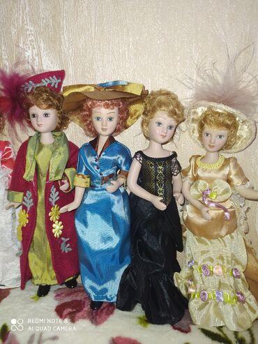фарфоровая фигурка в Кыргызстан: Фарфоровые куклы .Дамы эпохи .20см.Каждая кукла