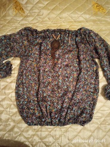 нарядные блузки в Кыргызстан: Тонкая шифон блузка, 46р, очень нежная и нарядная,. почти новая
