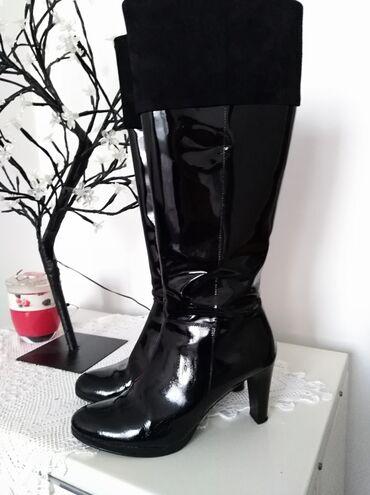 Personalni proizvodi - Kovin: SNIŽENJE!  Lakovane čizme od prave kože, u savršenom stanju, vel 39,ga