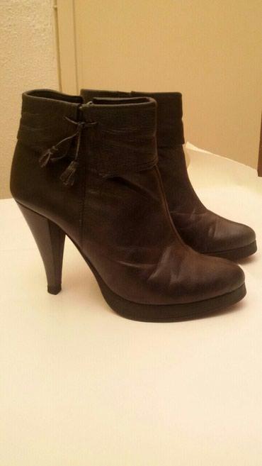 Cizme kozne broj - Srbija: Crne kozne cizme,broj 37