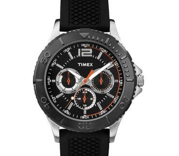 Мужские наручные часы TIMEX WR50 в стальном корпусе с частичным